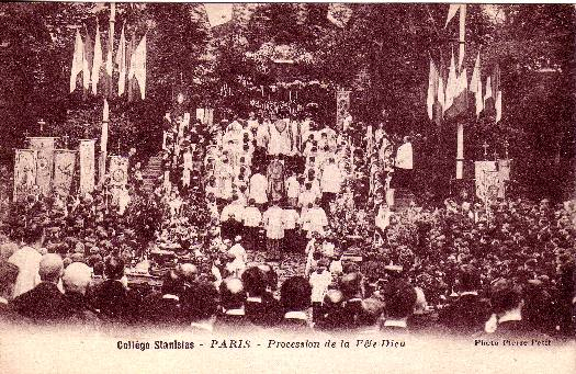 Procession of Corpus Christi at Collège Stanislas